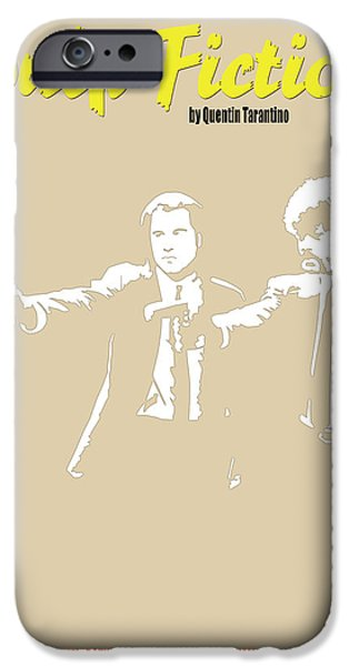 Quentin Tarantino iPhone Cases - Pulp Fiction Minimalist Movie Poster iPhone Case by Finlay McNevin