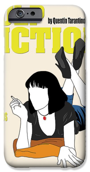 Quentin Tarantino iPhone Cases - Pulp Fiction Movie Poster iPhone Case by Finlay McNevin