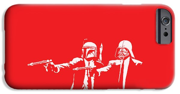 Funny Digital iPhone Cases - Pulp Wars iPhone Case by Patrick Charbonneau