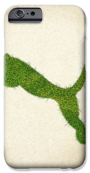 Fanatic iPhone Cases - Puma Grass Logo iPhone Case by Aged Pixel