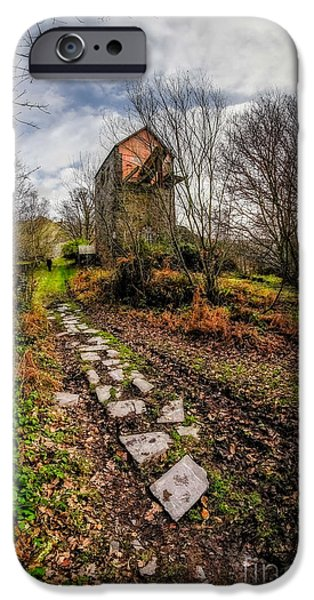 Dilapidated Digital Art iPhone Cases - Pump House Way iPhone Case by Adrian Evans
