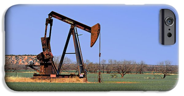 Recently Sold -  - Machinery iPhone Cases - Pump Jack a Texas icon iPhone Case by Christine Till