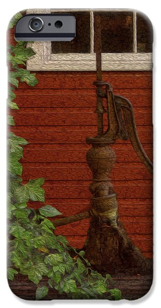 Shed Digital Art iPhone Cases - Pump iPhone Case by Jack Zulli