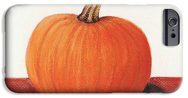 Organic Pastels iPhone Cases - Pumpkin iPhone Case by Anastasiya Malakhova