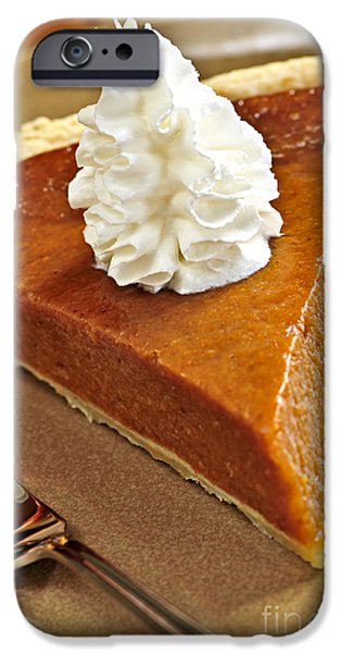 Slices iPhone Cases - Pumpkin pie iPhone Case by Elena Elisseeva