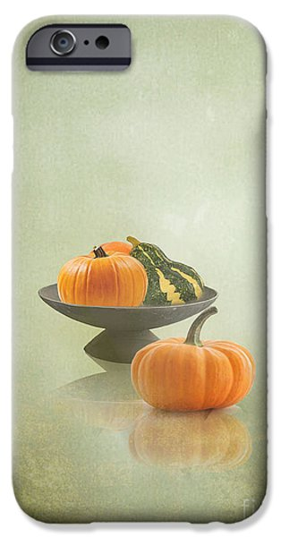 Interior Still Life iPhone Cases - Pumpkins Still Life iPhone Case by Artskratches