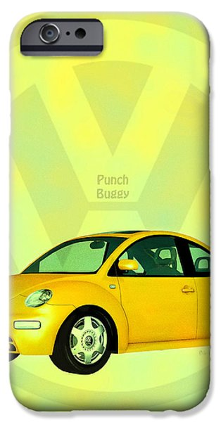 Punch Buggy iPhone Case by Bob Orsillo