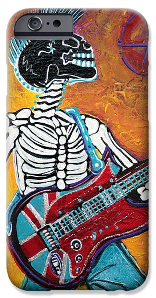 Democracy Paintings iPhone Cases - Punks Not Dead iPhone Case by Laura Barbosa