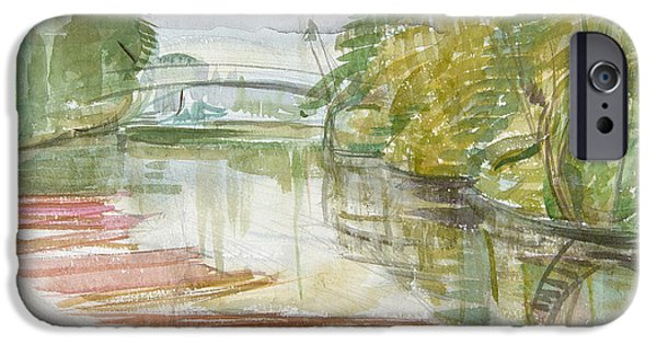 Punting iPhone Cases - Punts On The Cherwell Wc On Paper iPhone Case by Erin Townsend