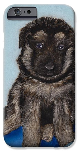 Recently Sold -  - Child iPhone Cases - Puppy - German Shepherd iPhone Case by Anastasiya Malakhova