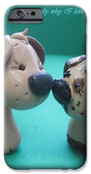 Puppy Love iPhone Case by Barbara Snyder