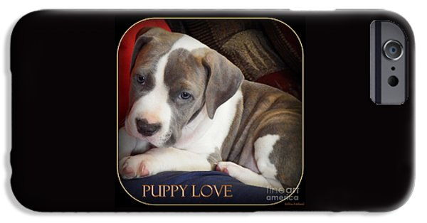 Puppies Digital iPhone Cases - Puppy Love iPhone Case by Bobbee Rickard