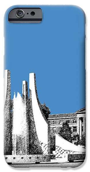 Pen And Ink iPhone Cases - Purdue University 2 - Engineering Fountain - Slate iPhone Case by DB Artist