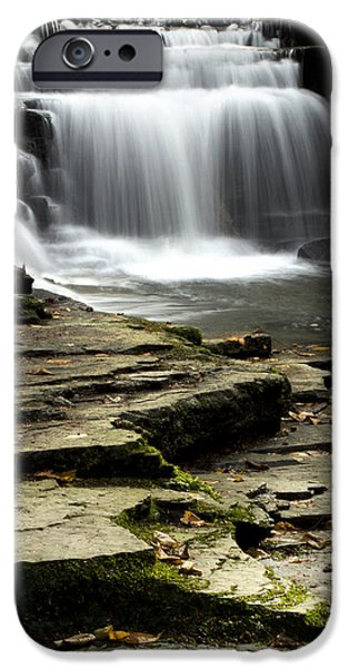 Franklin iPhone Cases - Pure And Tranquil Waterfall iPhone Case by Christina Rollo