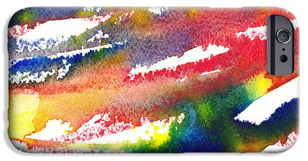 Abstractions iPhone Cases - Pure Color Inspiration Abstract Painting Blizzard Born iPhone Case by Irina Sztukowski