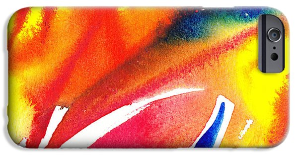 Abstractions iPhone Cases - Pure Color Inspiration Abstract Painting Enchanted Crossing iPhone Case by Irina Sztukowski