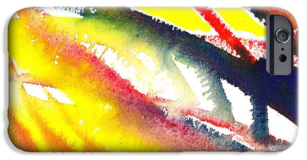 Escape iPhone Cases - Pure Color Inspiration Abstract Painting Escaping Blaze iPhone Case by Irina Sztukowski