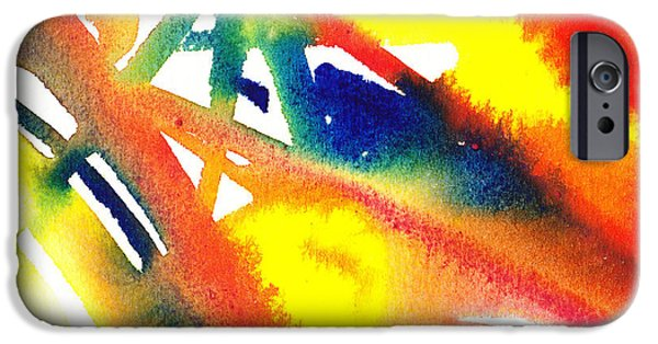 Abstract Movement iPhone Cases - Pure Color Inspiration Abstract Painting Flamboyant Glide  iPhone Case by Irina Sztukowski