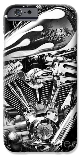 Selective Focus iPhone Cases - Pure Harley Chrome iPhone Case by Tim Gainey