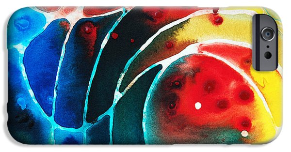 Stretched Canvas iPhone Cases - Pure Joy 2 - Abstract Art By Sharon Cummings iPhone Case by Sharon Cummings