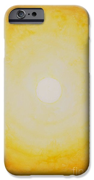 Inner Self Paintings iPhone Cases - Sunshine iPhone Case by Moira Rowe