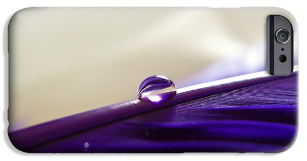 Nature Abstract iPhone Cases - Pure Purple iPhone Case by Krissy Katsimbras
