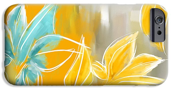 Brilliant Paintings iPhone Cases - Pure Radiance iPhone Case by Lourry Legarde