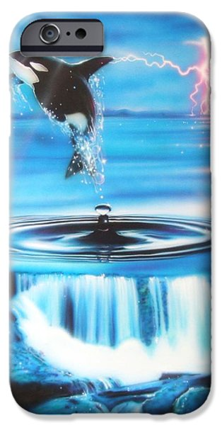 Sun Rays Paintings iPhone Cases - Pure Water Systems iPhone Case by Christian Chapman Art