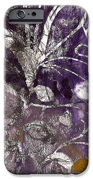 Plant Reliefs iPhone Cases - Purity is Passion iPhone Case by Claudia Smaletz