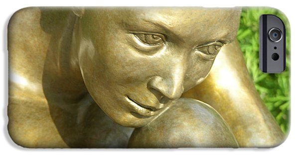 Nudes Sculptures iPhone Cases - Purity iPhone Case by J Anne Butler