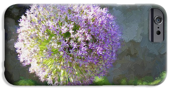Purple Sensation iPhone Cases - Purple Allium 2 Hollandicum Sensation  iPhone Case by Andee Design