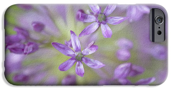 Allium Hollandicum iPhone Cases - Purple Allium Flower iPhone Case by Juli Scalzi