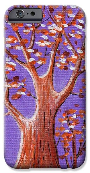 Leaf iPhone Cases - Purple and Orange iPhone Case by Anastasiya Malakhova