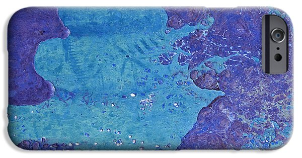 Rust iPhone Cases - Purple and the Turquoise Elf King Abstract iPhone Case by Lee Craig