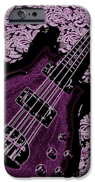 Purple Bass iPhone Case by Chris Berry