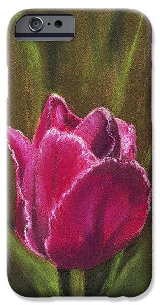Close Pastels iPhone Cases - Purple Beauty iPhone Case by Anastasiya Malakhova