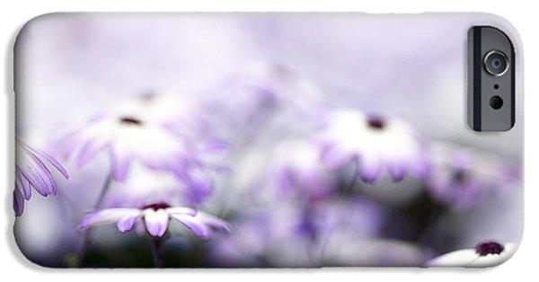 Dreamy iPhone Cases - Purple Bokeh iPhone Case by Rebecca Cozart
