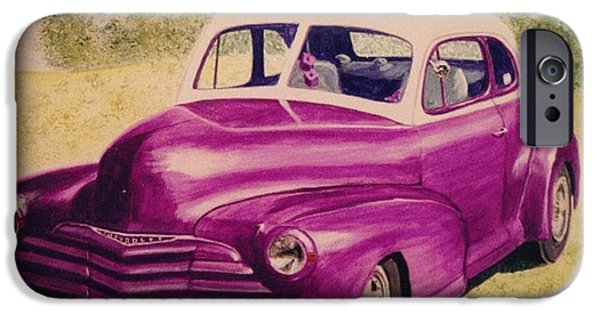 Automotive iPhone Cases - Purple Chevrolet iPhone Case by Stacy C Bottoms