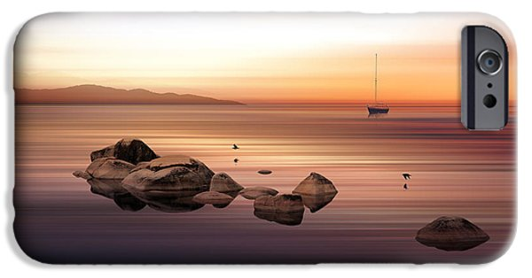 Sailing iPhone Cases - Purple Dawn iPhone Case by Marvin Pelkey