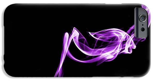 Abstract Forms iPhone Cases - Purple Flash iPhone Case by Christine Smart