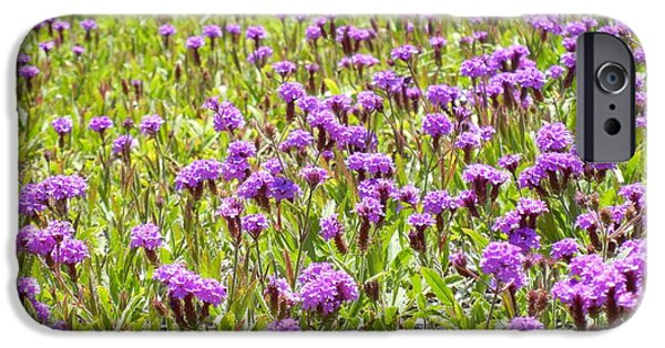 Youthful iPhone Cases - Purple Flowers iPhone Case by Leo Sopicki