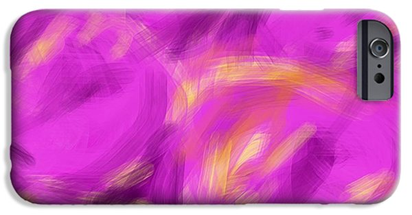 Etc. Digital Art iPhone Cases - Purple Fruit iPhone Case by James Eye