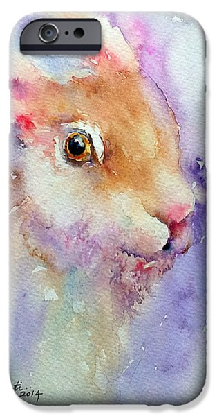 Brown Hare iPhone Cases - Purple Glow iPhone Case by Arti Chauhan