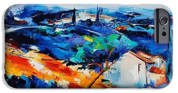 Interior Scene iPhone Cases - Purple Hills iPhone Case by Elise Palmigiani