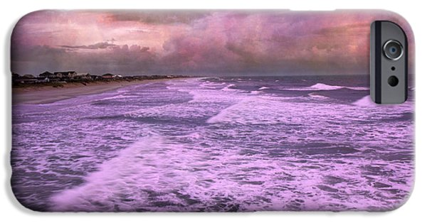 Turbulent Skies iPhone Cases - Purple Majesty  iPhone Case by Betsy A  Cutler