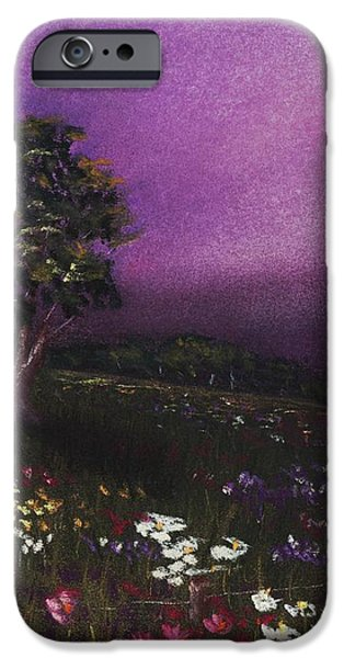 Memories iPhone Cases - Purple Meadow iPhone Case by Anastasiya Malakhova