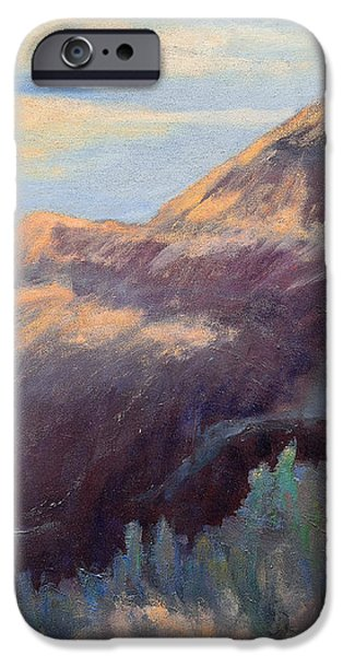 Purple Mountain iPhone Case by Arlene Baller