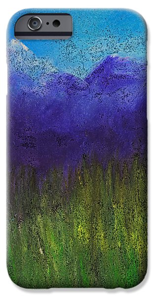 Purple Mountains by jrr iPhone Case by First Star Art