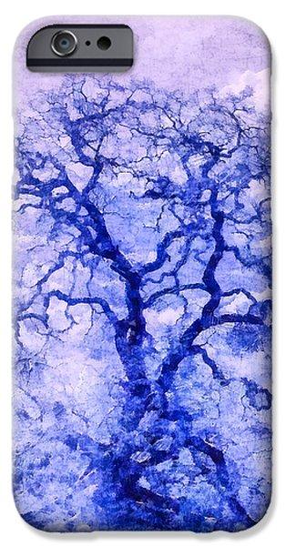 Purple Oak Tree Dream  iPhone Case by Priya Ghose