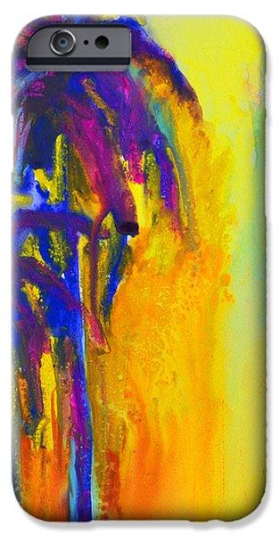 Purple Palm Trees Sunset iPhone Case by Patricia Awapara
